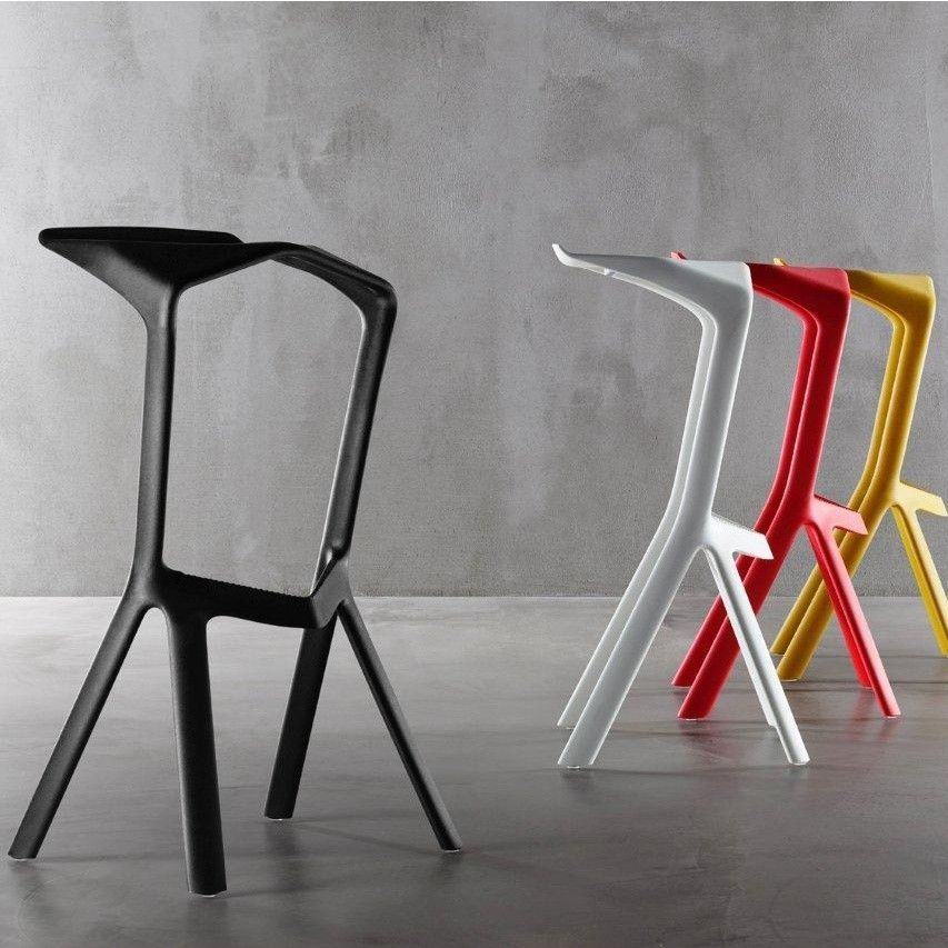 black eames chair dining covers belfast miura bar stool | plank ambientedirect.com