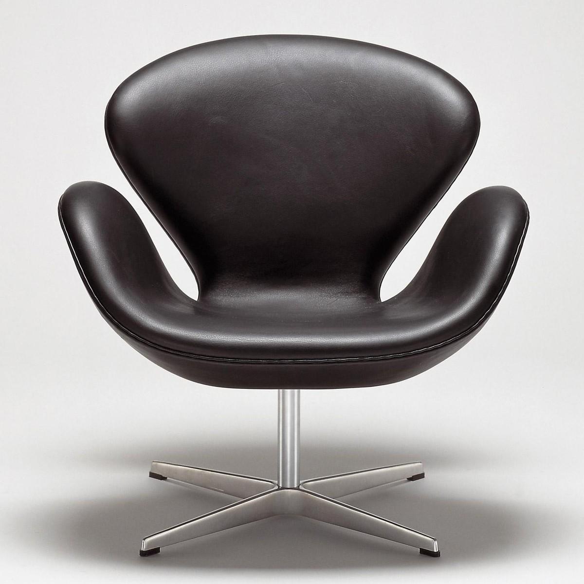Swan Chair Sessel Leder  Fritz Hansen  AmbienteDirectcom
