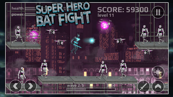 Superhero Bat Fight