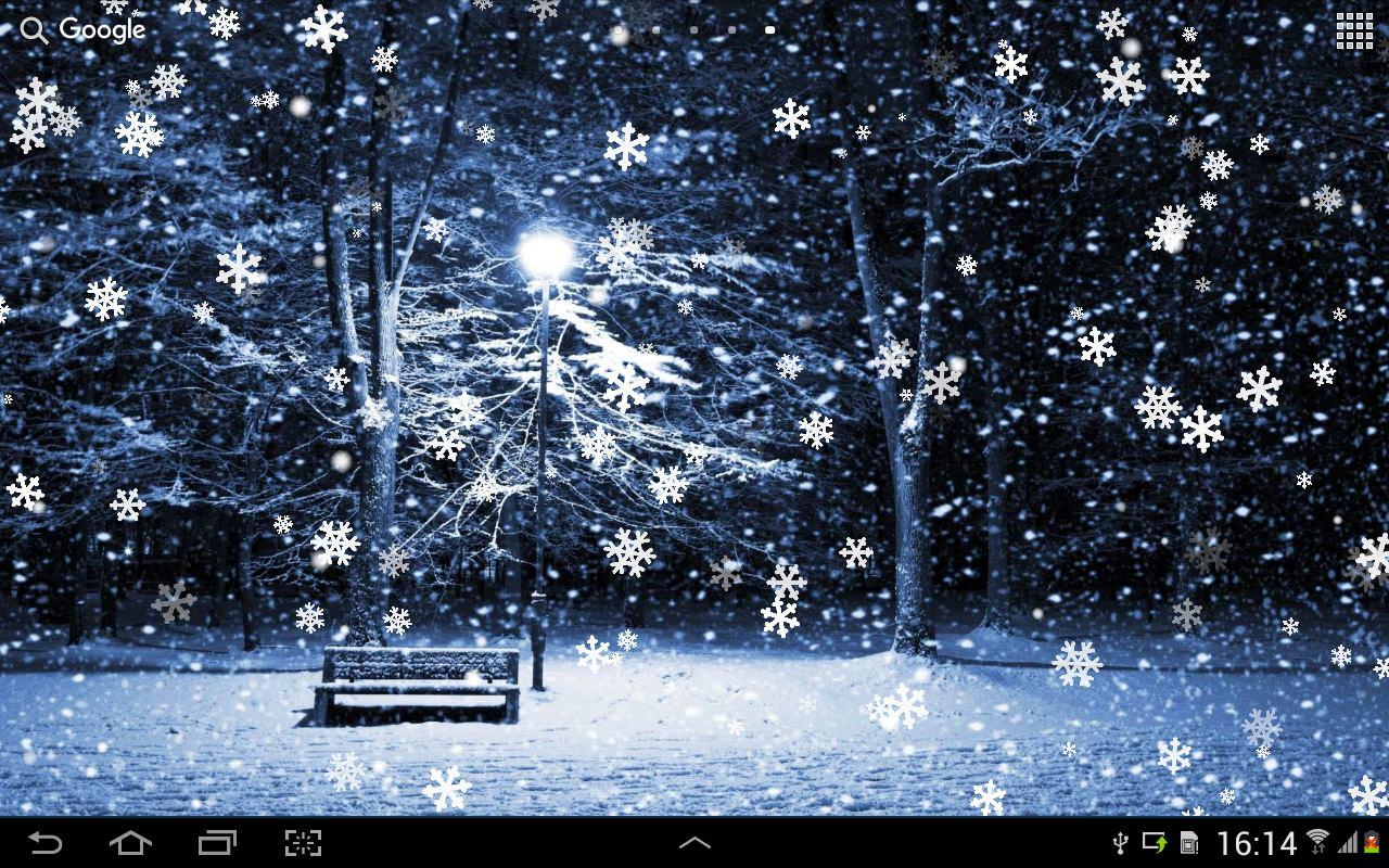 Android Fall Live Wallpaper Snow On Screen Winter Effect 187 Apk Thing Android Apps