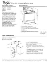 Whirlpool GFE471LVS Gold Series Electric Freestanding