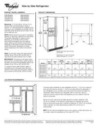 Whirlpool WSF26C2EXY 36 Inch Wide 26.4 Cu. Ft. Capacity