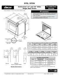 Dacor DTOV127B 27 Inch Single Wall Oven, in Black