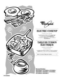 Whirlpool G9CE3065XB 30 Inch Gold Series Electric Cooktop