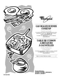 Whirlpool W3CG3014XS 30 Inch Gas Cooktop with 4 Sealed
