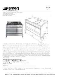 Smeg A3XU6 48 Inch Opera Series Dual Fuel Freestanding