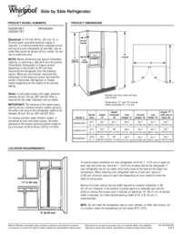 Whirlpool WRS950SIAE 36 Inch Side by Side Refrigerator