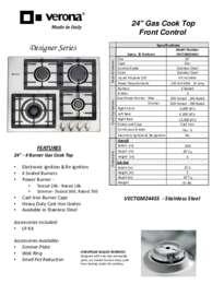 Verona VECTGM244SS 24 Inch Designer Series Gas Sealed