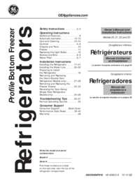 GE GNS23GSHSS 33 Inch French Door Refrigerator with 22.7