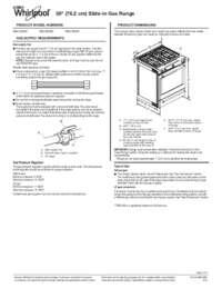 Whirlpool WEG745H0FS 30 Inch Slide-in Gas Range with