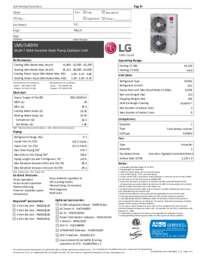 LG LMU540HV Mini Split Air Conditioner Cooling Area