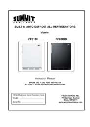 Summit FF63BBI 24 Inch Built In/Freestanding Undercounter