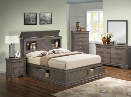 glory furniture g3105 6 piece king size bedroom set