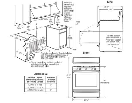 Frigidaire FFGF3011L 30 Inch Freestanding Gas Range with 4
