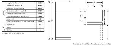 GE GTS15CTHRWW 28 Inch ADA Compliant Top-Freezer