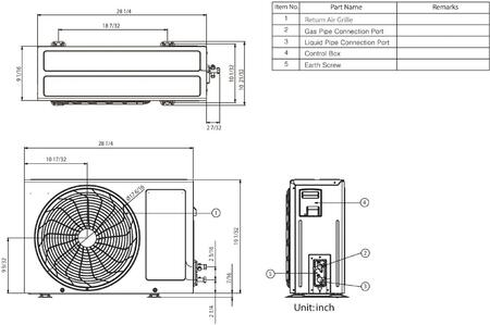 LG LS120HXV Air Conditioner Cooling Area, Adjustable Air