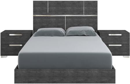 casabianca milo 3 piece queen size bedroom set