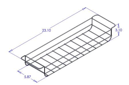 Cal Flame BBQ10000330 Grill Cart Wire Basket for Grill