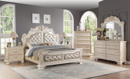 cosmos furniture victoria 6 piece king size bedroom set