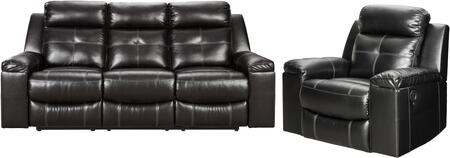 You dont just want to recline. You want to recline in high design. Wrapped in a fabulous black faux leather upholstery. this reclining sofa with 42 high back is everything you long forand then some. Ultra clean lines. subtle curves and sumptuous comf...