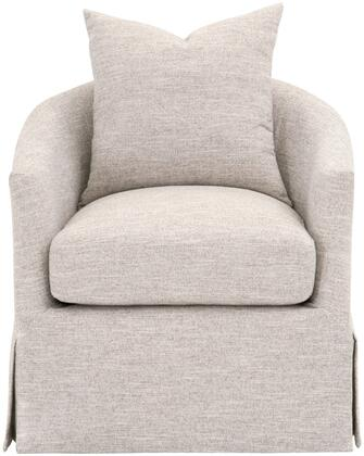 Add transitional style to your living room. family room. or den with this slipcover swivel club chair. With the seat cushion made of half down and half polyester. this chair is extremely comfortable to curl up and read a book or watch television on. ...
