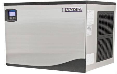 This Modular Ice Maker by Maxx Ice can produce up to 521 pounds of ice per day. The unit features a durable stainless steel exterior. hinged front panel and automatic cleaning cycle.