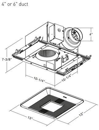 Panasonic WhisperCeiling FV-0511VQL1 DC Fan with LED Light