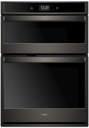 whirlpool woc75ec7hv 27 inch 6 4 cu ft total capacity electric double wall oven microwave combo oven