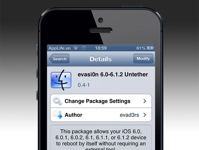 evasi0n 1.5 untether jailbreak iOS 6.0/6.0.1/6.1/6.1.1/6.1.2