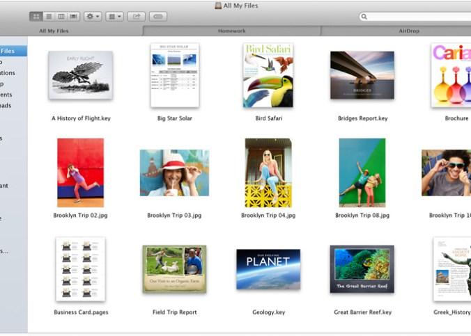 Finder Tabs của OS X 10.9 Mavericks