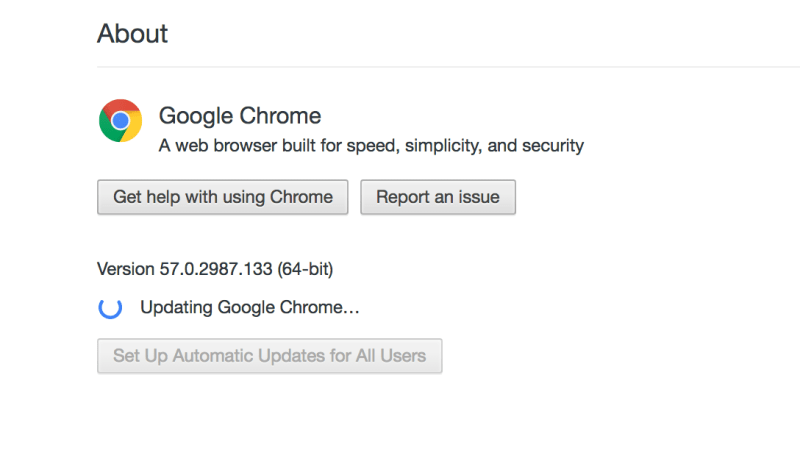 Google Chrome 58
