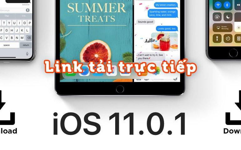 iOS 11.0.1 Link tai truc tiep