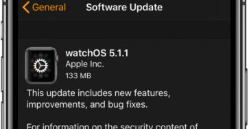 Apple WatchOS 5.1.1