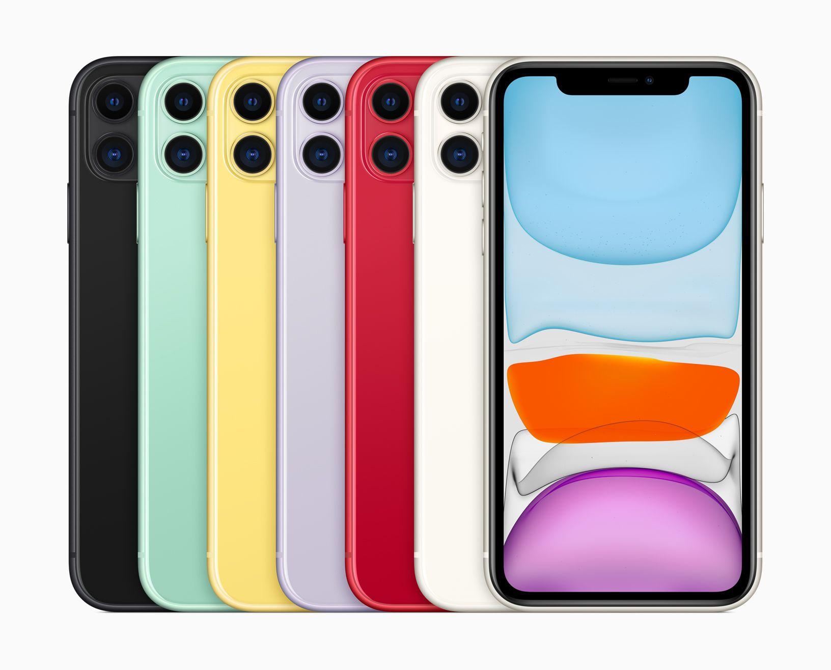 iPhone 11 màu xanh và tím