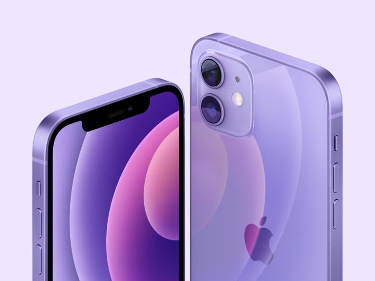iPhone 12 và iPhone 12 mini màu tím