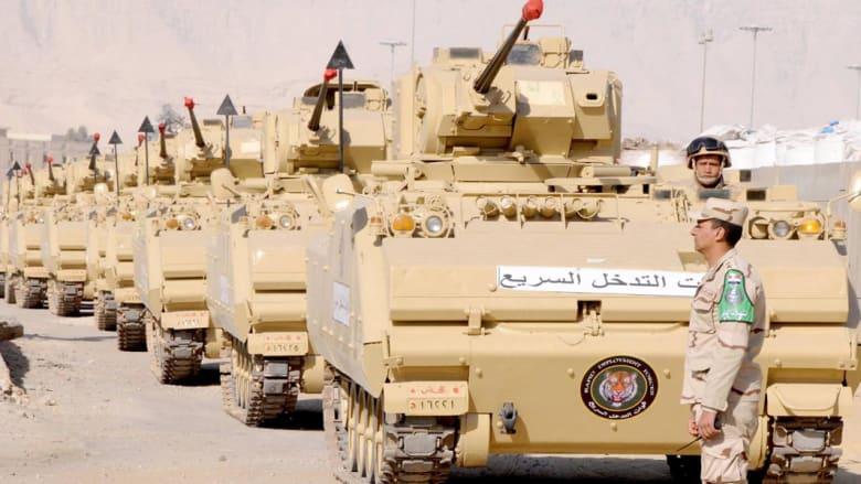 بالصور قوات مصرية بطريقها للسعودية ضمن مناورات رعد الشمال