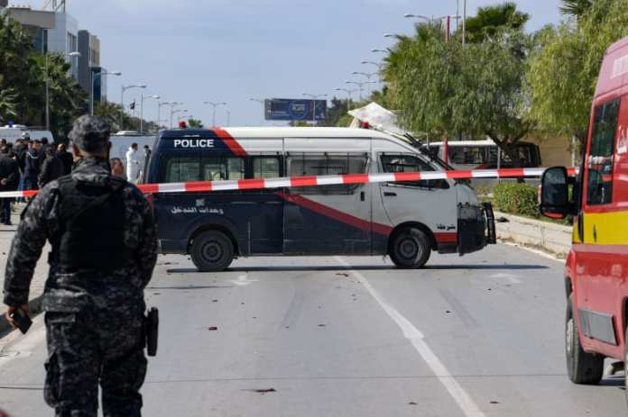 A suicide bombing near the American embassy in Tunisia