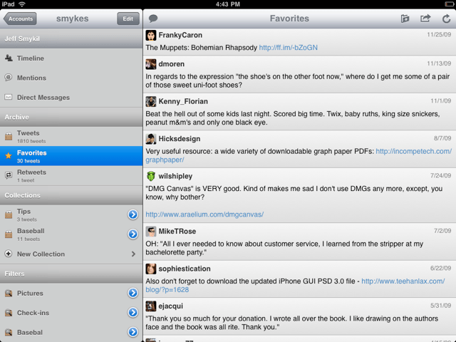 Hands on: Tweet Library for iPad