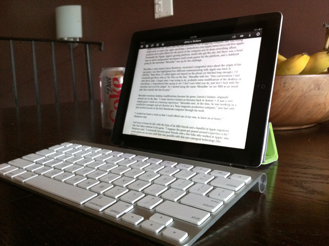 Masochist me? An Ars writer's iPad-only workday