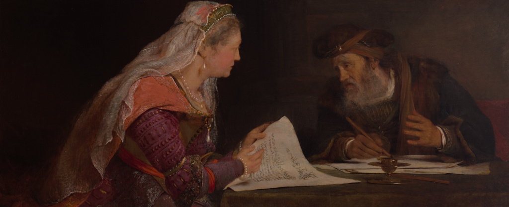 Arent De Gelder Esther And Mordecai Writing The Second Letter Of Purim