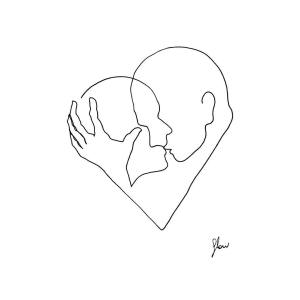line intimate drawings simple female couple perspective artist single couples capture moments uses