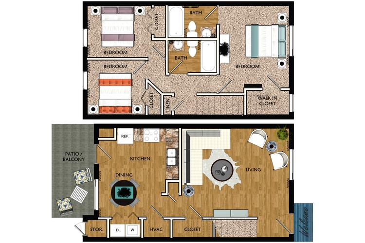 Apartment Floor Plans  Pricing  Legends at Lake Murray