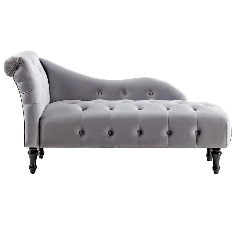 naomi grey velvet tufted roll back
