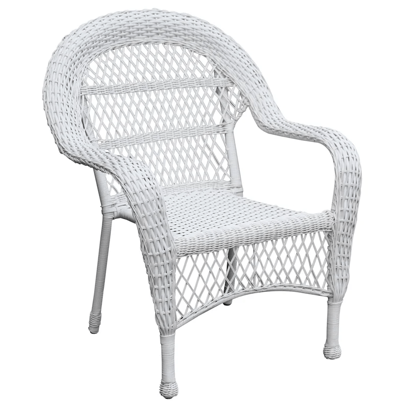 outdoor wicker chair white at home