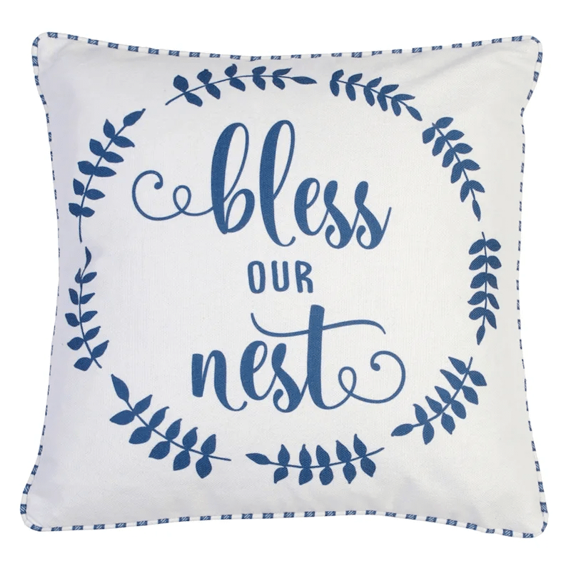 blake blue bless our nest printed