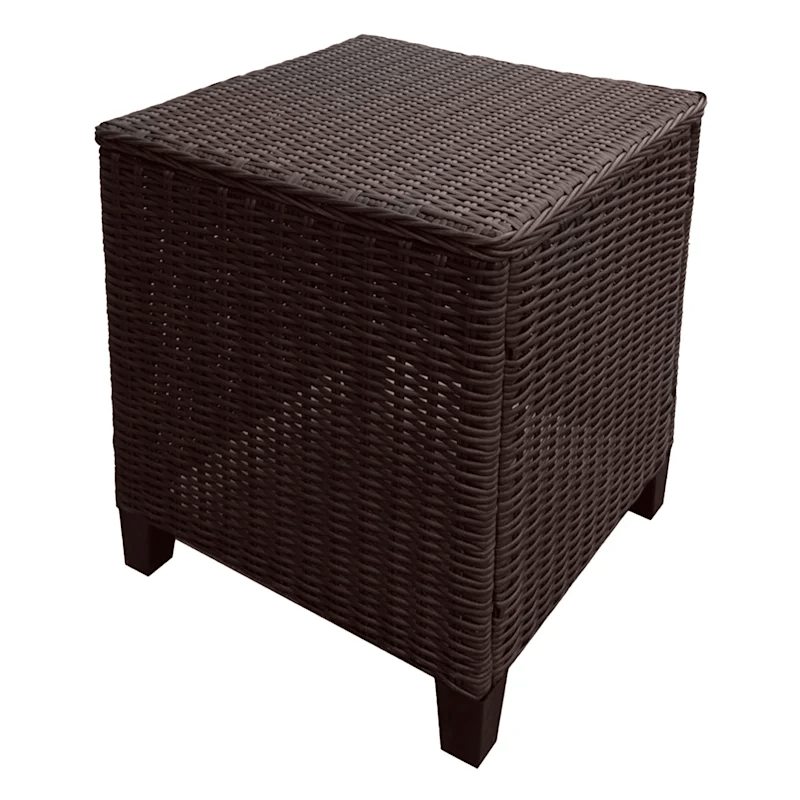 glendale square brown wicker outdoor