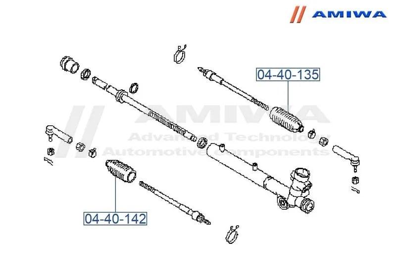 Пыльник рулевой рейки правый D8204-CF40A Nissan. Продажа