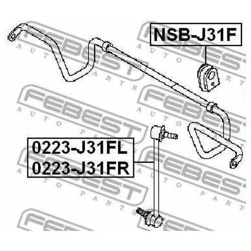Втулка стабилизатора переднего 54613-9Y0.0.2 Nissan