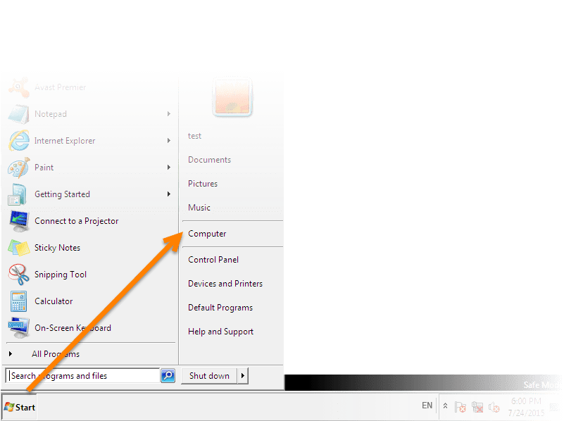 Regaining access to the Avast program without a password