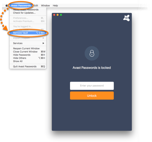 activate avast passwords in firefox